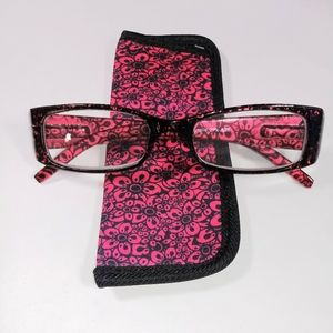 Foster Grant Pink Magnolia Reading Glasses +3.00
